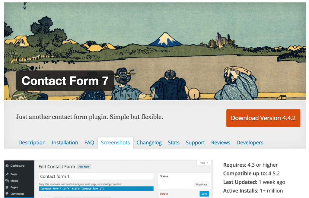 Contact Form 7 can manage multiple contact forms,
