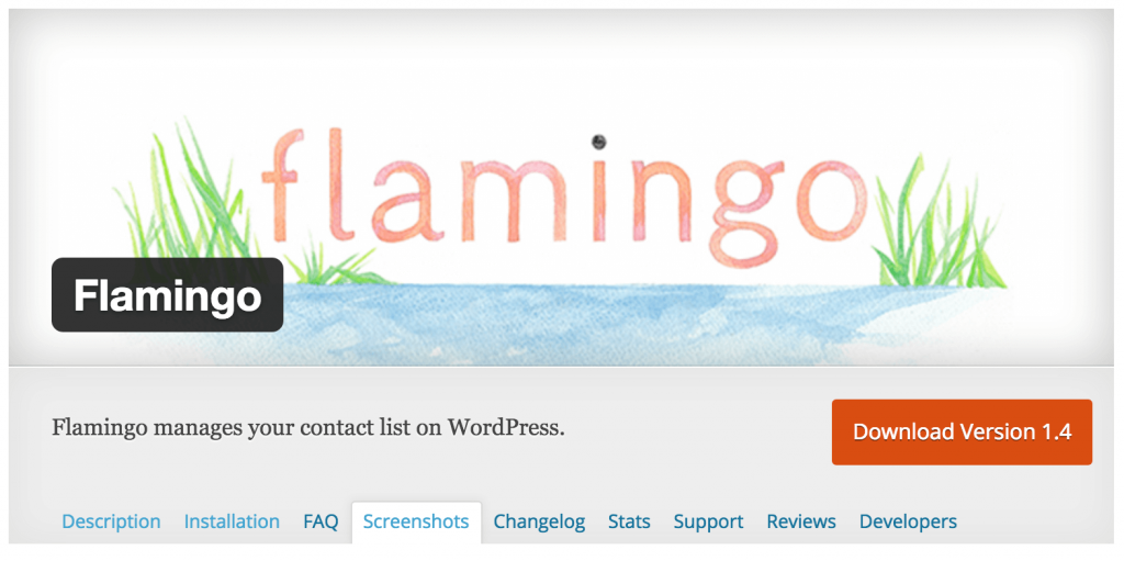 Flamingo manages your contact list on WordPress