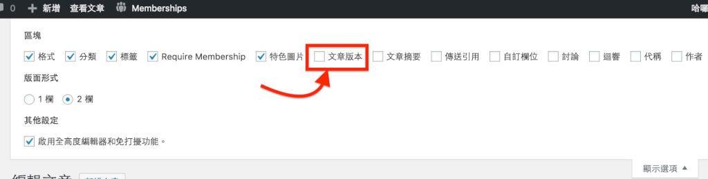 Revision History Control WordPress優化工具文章版本數量控制外掛 3
