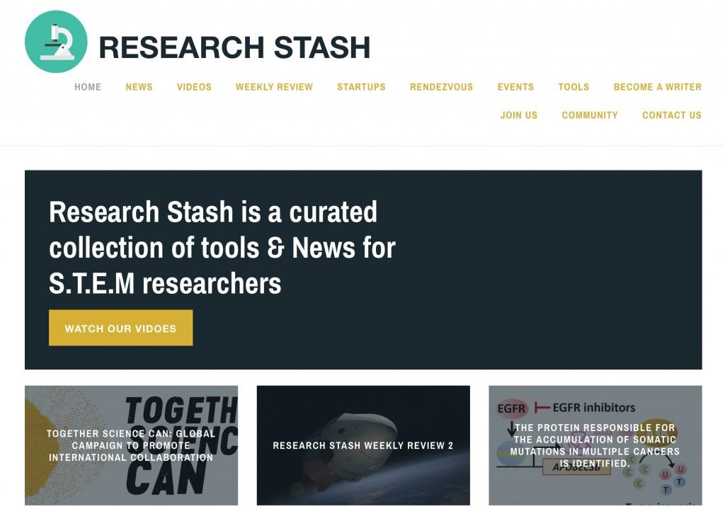 Research Stash website