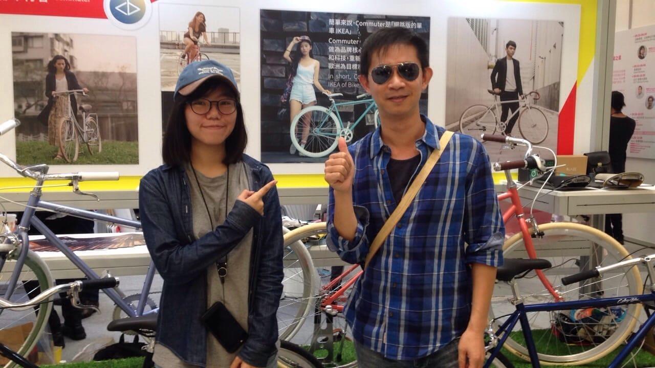 college bike with jackteacher傑克老師